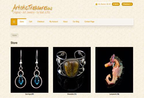 Artistic Treasures Website Demo Link