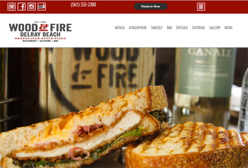 Web Design Custom Websites - Wood & Fire Link