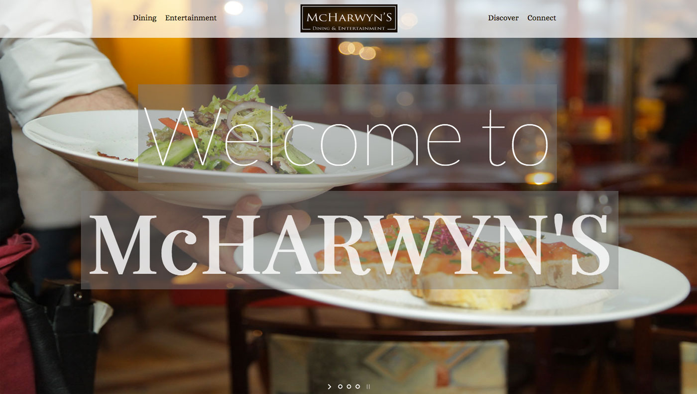 McHarwyn's Restaurant Website Demo Link