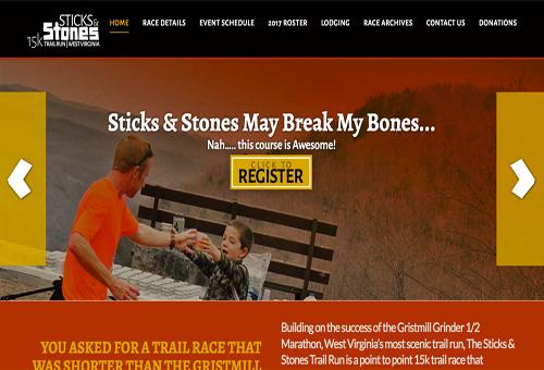 Embellished Websites - Sticks & Stones Run Demo link